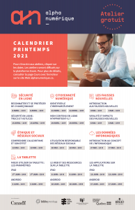 Affiche programmation nationale printemps 2021
